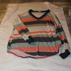 Light & Airy Striped V-Neck